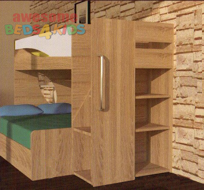 Ollie Bunk Bed With Storage Shelves Bunk Bed With Stairs Bunk