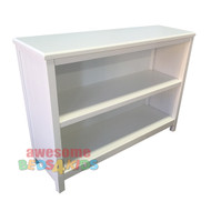 Cody Low Bookcase compliments all of our single and king single white low gloss beds and furniture. Made from rubberwood. (hardwood)