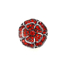 RED CRYSTAL ROSE SNAP JEWEL