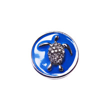BLUE CRYSTAL TURTLE SNAP JEWEL