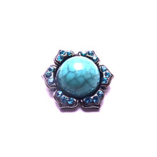 TURQUOISE CRYSTAL BLOOM SNAP JEWEL