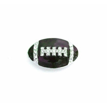 CRYSTAL FOOTBALL SNAP JEWEL