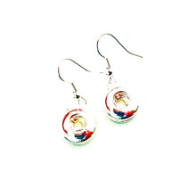 MINI SNAP JEWEL FISH HOOK EARRINGS