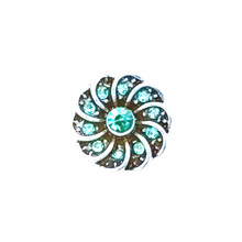 MINI AQUA PINWHEEL SNAP JEWEL