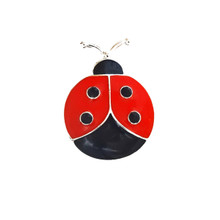 ENAMELLED LADY BUG SNAP JEWEL