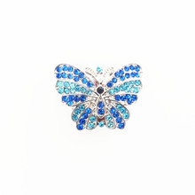 BLUE JEWELLED BUTTERFLY SNAP JEWEL