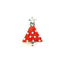 CHRISTMAS TREE RED JEWELLED SNAP JEWEL