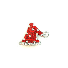 CHRISTMAS RED JEWELLED STOCKING HAT SNAP JEWEL