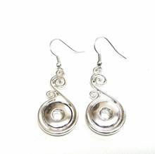 MINI SCROLL SNAP JEWEL FISH HOOK EARRINGS