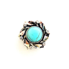 JEWELLED TURQUOISE LAUREL SNAP JEWEL