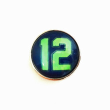 SEAHAWKS 12 BLUE SNAP JEWEL
