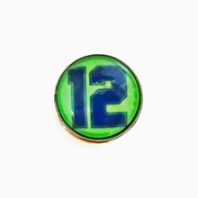 SEAHAWKS 12 LIME SNAP JEWEL