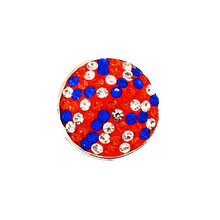 BLUE AND ORANGE JEWELLED GATOR SNAP JEWEL