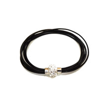 FLORENCIA BLACK LEATHER BRACELET