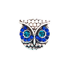 CRYSTAL BLUE EYES OWL SNAP JEWEL