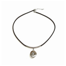BRAIDED BROWN LEATHERETTE NECKLACE