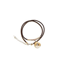 BRAIDED BROWN LEATHERETTE BRACELET