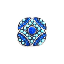 BLUE BEADED KIEV SNAP JEWEL