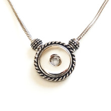 ROPE AND BARREL SNAP JEWEL NECKLACE