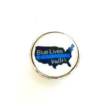 BLUE LIVES MATTER USA POLICE SNAP JEWEL