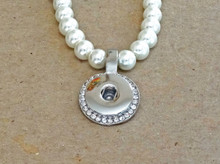 SINGLE SNAP PEARL NECKLACE