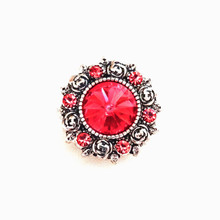 FACETED PINK JEWELLED SNAP JEWEL