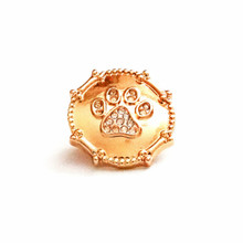 GOLD JEWELLED PAW PRINT SNAP JEWEL