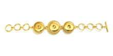 THREE SNAP LINK GOLD BRACELET
