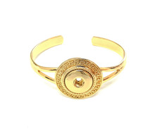 OPEN GREEK KEY GOLD CUFF BRACELET