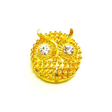 GOLD HORNED OWL SNAP JEWEL