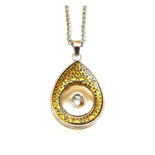 GOLD TEARDROP SNAP JEWEL NECKLACE