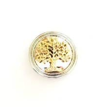 GOLD ON SILVER FAMILY TREE SNAP JEWEL