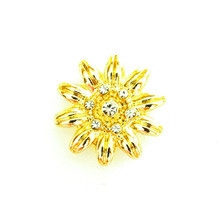 PERFECT GOLD DAISY SNAP JEWEL