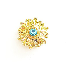 GOLD AND BLUE CRYSTAL CHLOE SNAP JEWEL