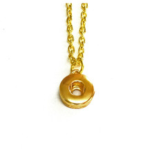 MINI GOLD SINGLE SNAP NECKLACE