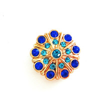 COBALT AND GOLD CARIBE SNAP JEWEL