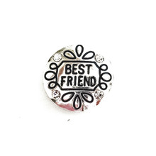 SILVER ENGRAVED BEST FRIEND SNAP JEWEL