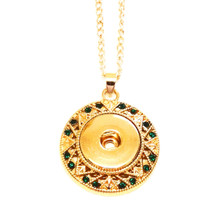 GOLD AND EMERALD AMALFI NECKLACE