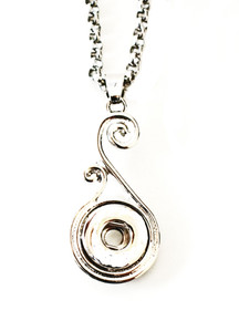 MINI SCROLL SNAP JEWEL NECKLACE