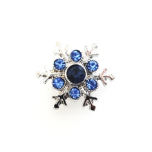 BLUE SNOWFLAKE SNAP JEWEL