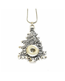 SILVER SPRUCE CHRISTMAS TREE NECKLACE