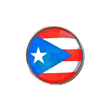 FLAG OF PUERTO RICO SNAP JEWEL