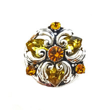 AMBER BAROQUE SNAP JEWEL