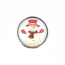 FROSTY RED HAT SNOWMAN SNAP JEWEL