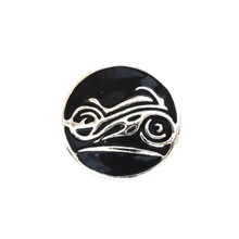 BLACK ENAMEL MOTORCYCLE SNAP JEWEL