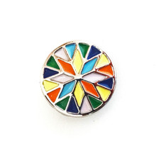 ENAMELED KALEIDOSCOPE SNAP JEWEL