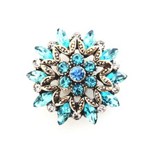 GRANDE GOLD AND BLUE CRYSTAL SNAP JEWEL