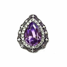 AMETHYST TEAR DROP SNAP JEWEL