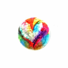 COLORFUL ABSTRACT HEART ENAMEL SNAP JEWEL