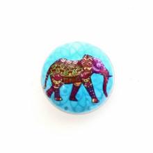 PAINTED ENAMEL #16 AQUA ELEPHANT SNAP JEWEL